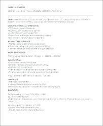 Format Of Resume In Canada Custom Resume Format For Security Officer Mmdadco