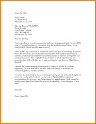 Example Of A Cover Letter For Nursing 10 Cover Letter For Nursing 1mundoreal