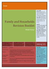 family as model essays revision booklet family as model essays revision booklet jun 2010 using material from item 2b and elsewhere assess the view that