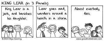 king lear good tickle brain a mostly shakespeare webcomic king lear