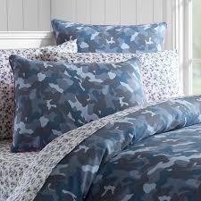 camo canvas duvet cover twin blue camo bedding pbteen