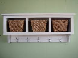image of wall shelf with hooks style