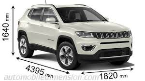 Jeep Comparison Chart Dimensions Of Jeep Cars Showing Length Width And Height