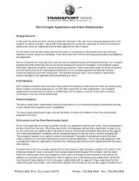 Non Compete Agreements And Client Relationships