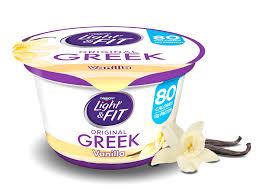 Yoplait Light And Fit Greek Yogurt Vanilla Greek Yogurt Light Fit