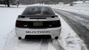 2004 Mustang GT 40th Anniversary Edition In the Snow, Exhaust and ...
