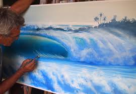 water and waves art work in fiji