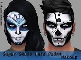 sugar skull face paint makeup