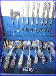 Wm Rogers Silverplate Patterns Magnificent Vintage Silver Plate 48pc Set 48 JUBILEE Pattern WM Rogers Mfg