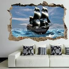 pirate ship 3d wall art sticker mural
