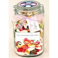 personalised sweet jar large