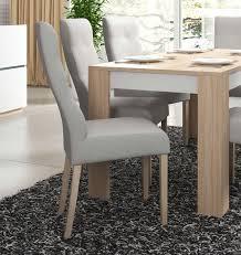 Polsterstuhl Esszimmerstuhl Küchenstuhl Stuhl 44x42cm Eiche Bernstein Asche