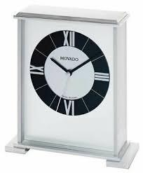 movado silver impressive mantle clock