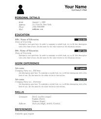 Formal Resume Template Best Formal Resume Template Professional Samples Talented Word Cv Format