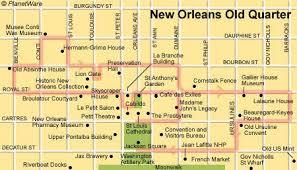 garden district new orleans walking tour map. Brilliant District New Orleans Old Quarter  Floor Plan Map For Garden District Walking Tour Map I