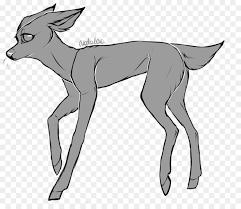 Line Art Reindeer Deer Wildlife