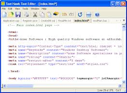 Text Hawk Text Editor, Text and HTML Editor for Windows