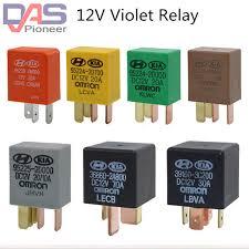 Car violet relay Automotive Relays <b>DC 12V</b> OMRON 3 <b>Pins 4 Pin</b> ...