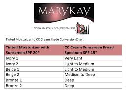 Mary Kay Conversion Chart From Tinted Moisturizer To Cc