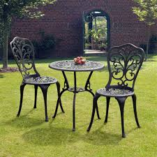simple but trendy outdoor bistro table set thedigitalhandshake small image of black outdoor full