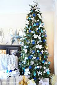 Christmas Tree Decorated In Blue  Merry ChristmasBlue Christmas Tree Ideas