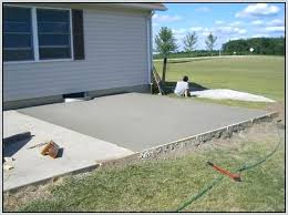 laying concrete patio pouring patios home decorating simple how much to lay