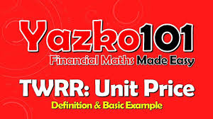 Example Of Unit Price Twrr How To Unit Price Example Ct1 Video Youtube