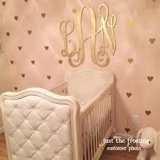gold decals gold heart wall decals confetti heart decals wooden wall monograms for nursery