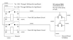 motorcycle headlight single spdt relay motor vehicle relay wiring diagram