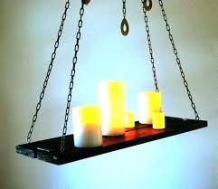 hanging candle chandelier diy