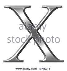 3d silver greek letter chi bn8x1t