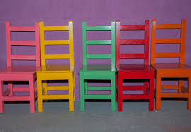 bright painted furniture. pop art bright painted furniture