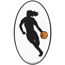Basketball Car Magnet Female Silhouette Girls Basketball Bumper