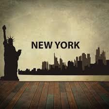New York Skyline Wallpaper For Bedroom Popular City Skyline Decal Buy Cheap City Skyline Decal Lots From