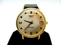 vintage longines automatic admiral 10k yellow gold filled watch men