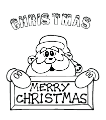 Christmas Coloring Pdf Merry Coloring Sign Says Happy Merry To On