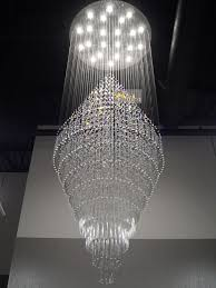 duplex building stair crystal chandelier villa foyer ping mall within large chandeliers for inspirations 16