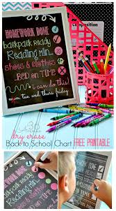 School Charts Ideas Back To School Chart Printable The 36th Avenue