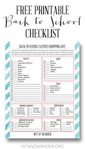 School Checklist Free Printable Back To School Checklist Sponsored By Carters