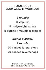 fun bodyweight workout you can do