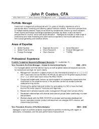 ... CV - Portfolio Manager. John P. Coates, CFA 954-383-0101  John.