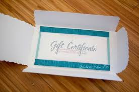 How To Make A Homemade Gift Certificate Look Fancy Weddings Gift
