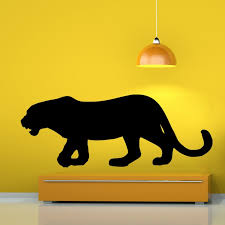 wall decals on black panther animal wall art with black panther vinyl wall decals by artollo