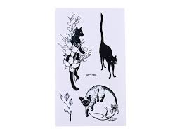 Dočasné Tetování Kočka Ix