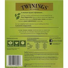 twinings pure peppermint tea bags image back