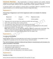 chapter notes chemical reactions and equations class 10 science dronstudy com