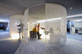 creative google office tel. Creative Google Office Tel. Between Carpet Tiles And Suspended Ceiling Penguins Watch Over The Performance Tel U