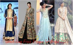 Recent Designer Dresses Latest Long Frock Designs For Bridal 2018 Stylish Outfit