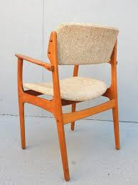 mid century danish modern erik buch dining chair set of six 1