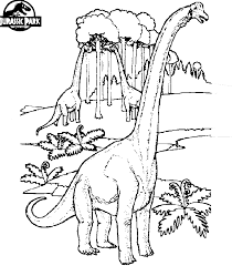 Small Picture Jurassic Park dino coloring page